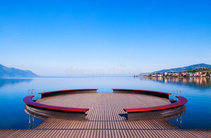 Meer Genève in Montreux, Zwitserland royalty-vrije stock foto