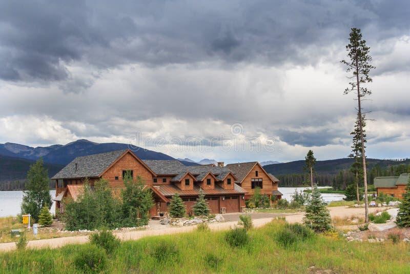 Meer Granby en Groot Meer Colorado de V.S. royalty-vrije stock afbeelding