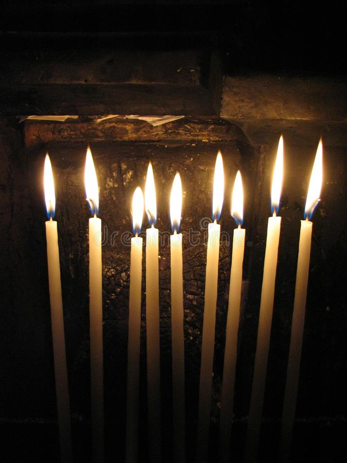 Meer kaarsen stock foto