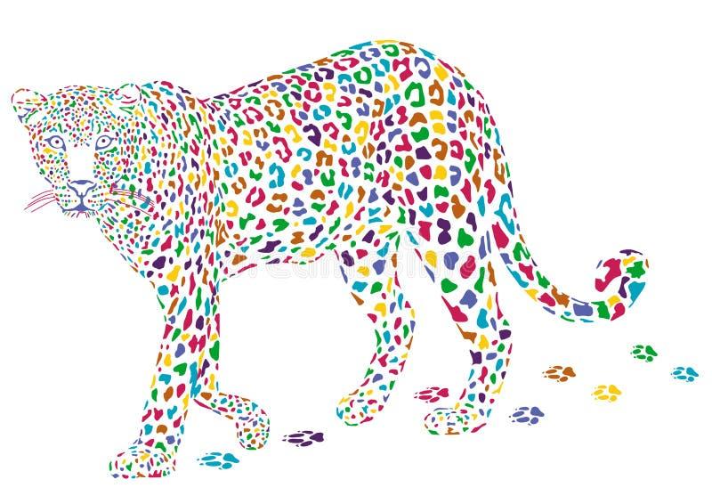 Meer kleurrijke luipaard