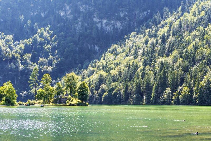 Meer Koenigssee stock afbeelding
