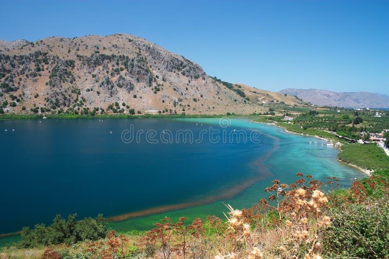 Meer Kournas, Kreta Royalty-vrije Stock Foto's