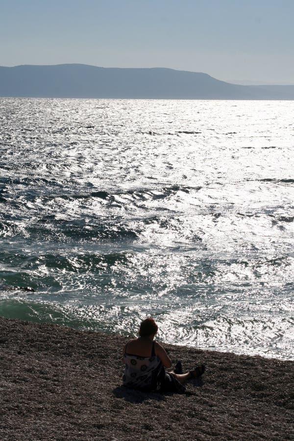 Meer in Kroatien stockfotos