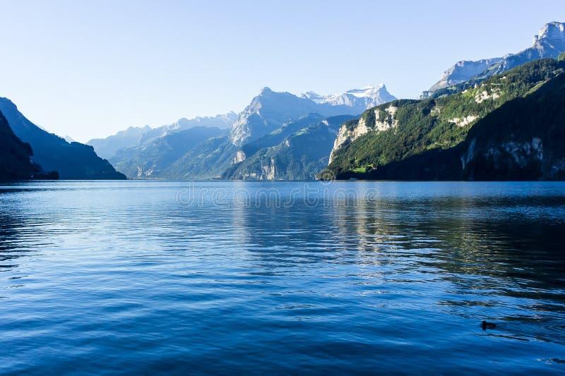 Meer Luzerne - Zwitserland stock foto