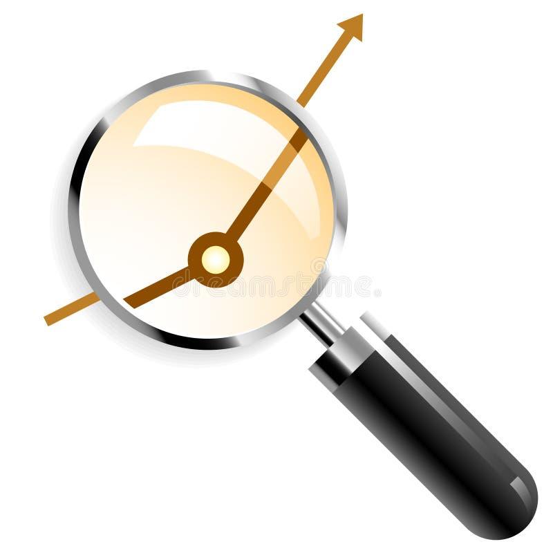 Meer magnifier vector royalty-vrije illustratie
