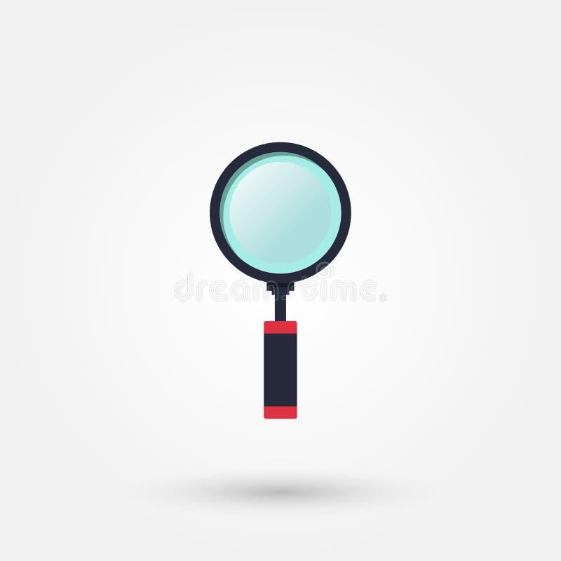 Meer magnifier voorraadvector royalty-vrije illustratie