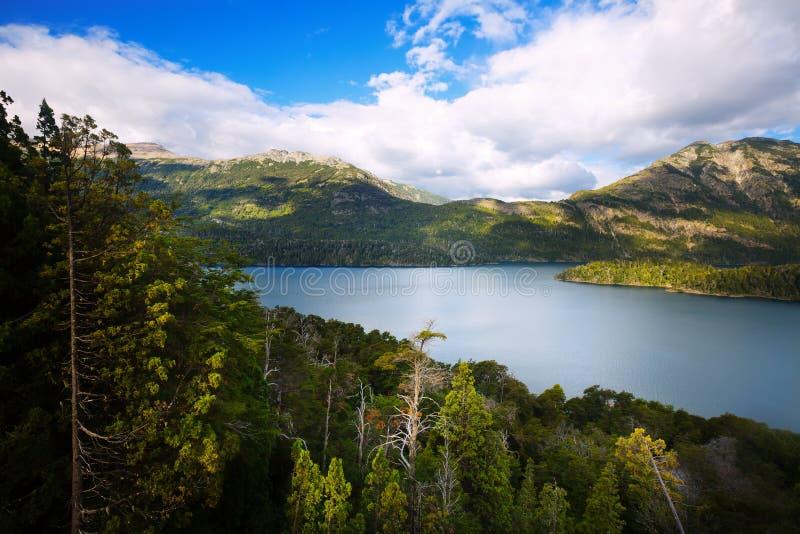 Meer Mascardi, de Andes, Argentinië royalty-vrije stock afbeeldingen