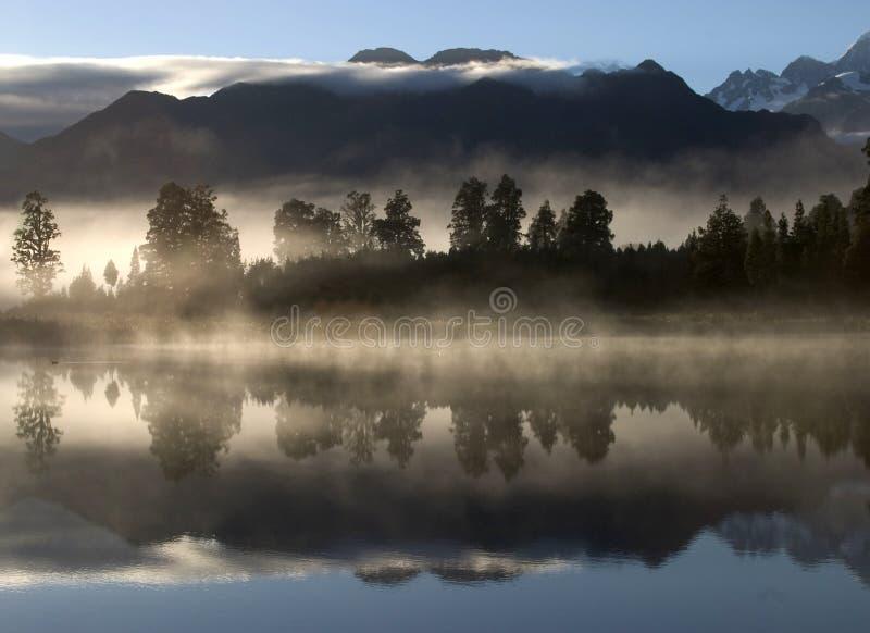 Meer Mathison Nieuw Zeeland royalty-vrije stock afbeelding