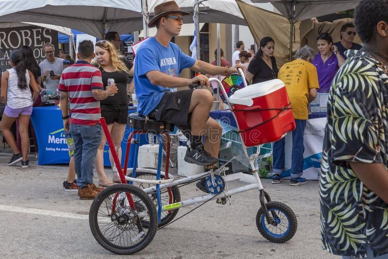 Meer met een waarde van, Florida, de V.S. Fab 23-24, de Straat van 2019 25Th Jaarlijks het Schilderen Festival royalty-vrije stock afbeeldingen