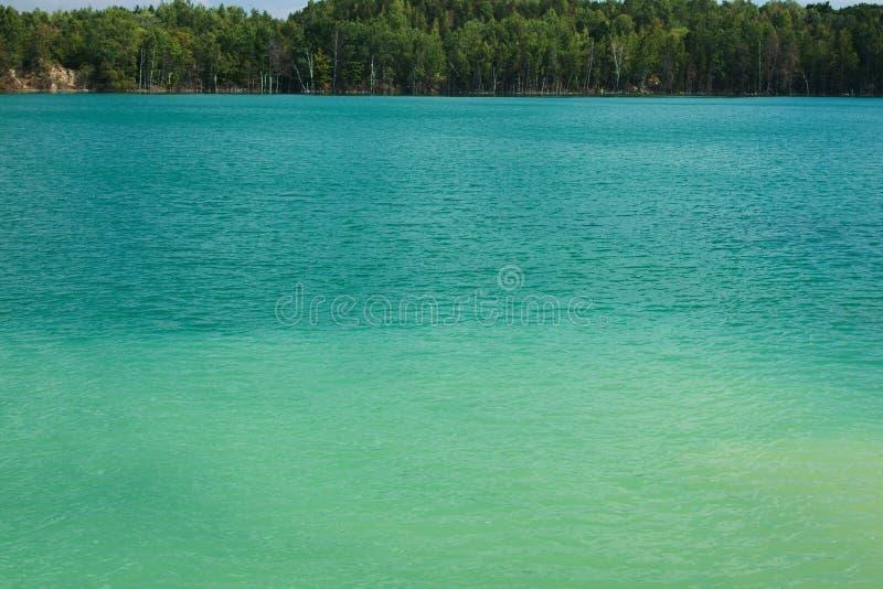 Meer met groen water stock foto