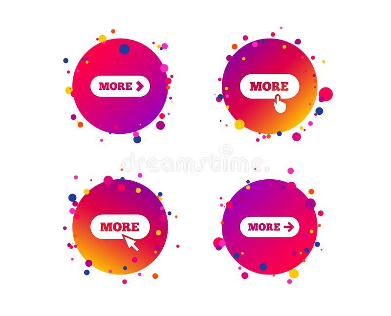 Meer met het pictogram van de curseurwijzer Detailssymbolen Vector stock illustratie