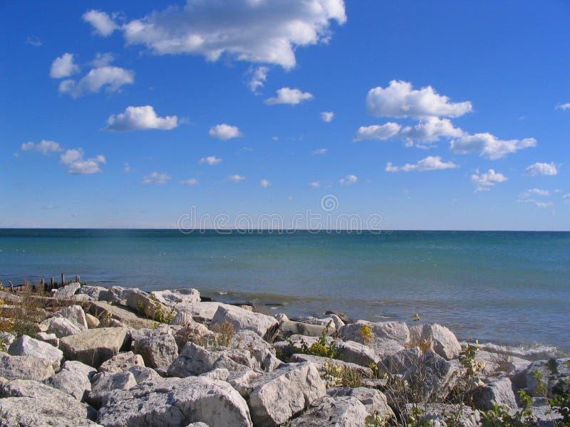 Meer Michigan op een de zomerdag stock fotografie