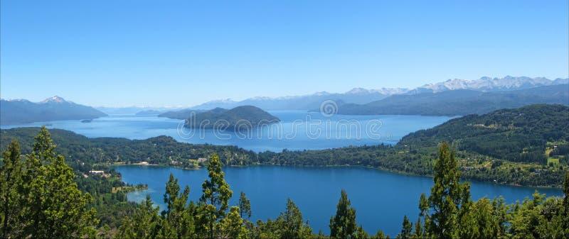 Meer Nahuel Haupi. Bariloche. Argentinië. stock afbeelding
