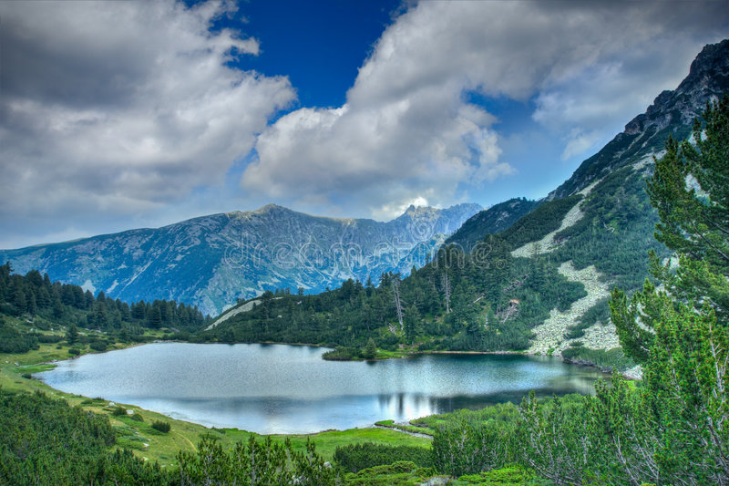 Meer in nationaal park Pirin royalty-vrije stock afbeelding