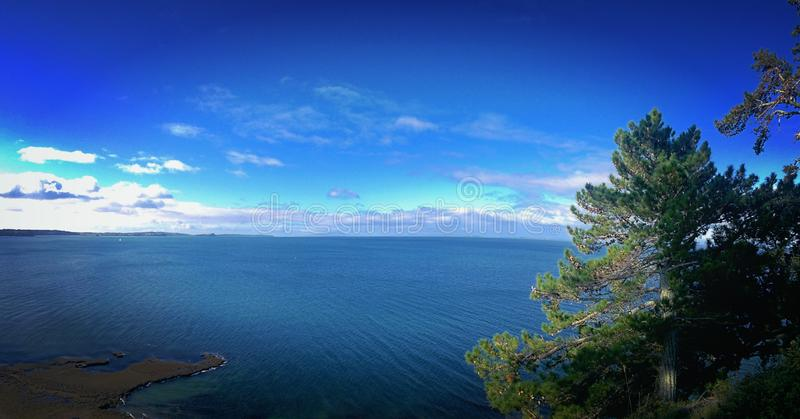 Meer in Neuseeland stockbild