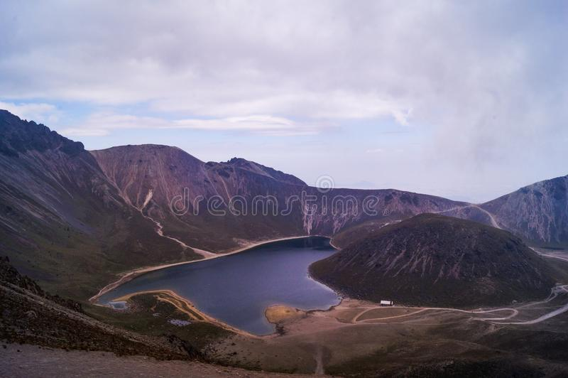 Meer, Nevado Toluca royalty-vrije stock afbeelding