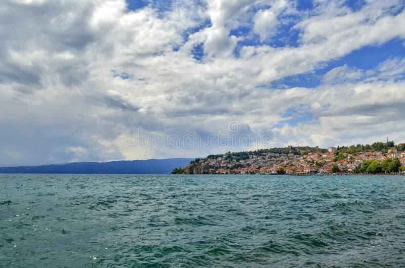 Meer Ohrid, Macedonië royalty-vrije stock fotografie