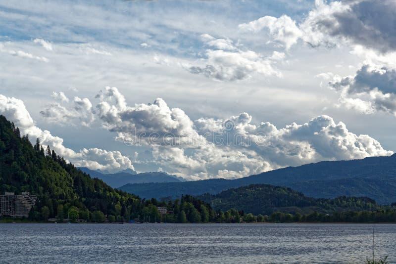 Meer Ossiach in Oostenrijk royalty-vrije stock foto