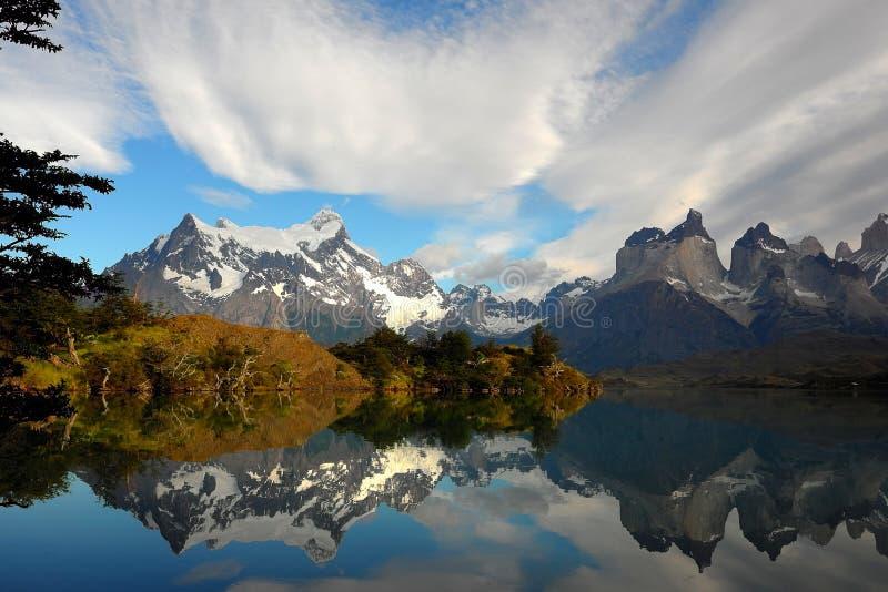 Meer Pahoe, Torres del Paine stock foto