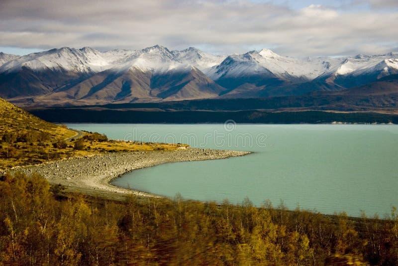 Meer Pukaki - Nieuw Zeeland royalty-vrije stock afbeeldingen