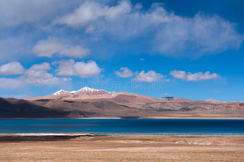 Meer Rakshastal: Het reizen in Tibet royalty-vrije stock afbeeldingen