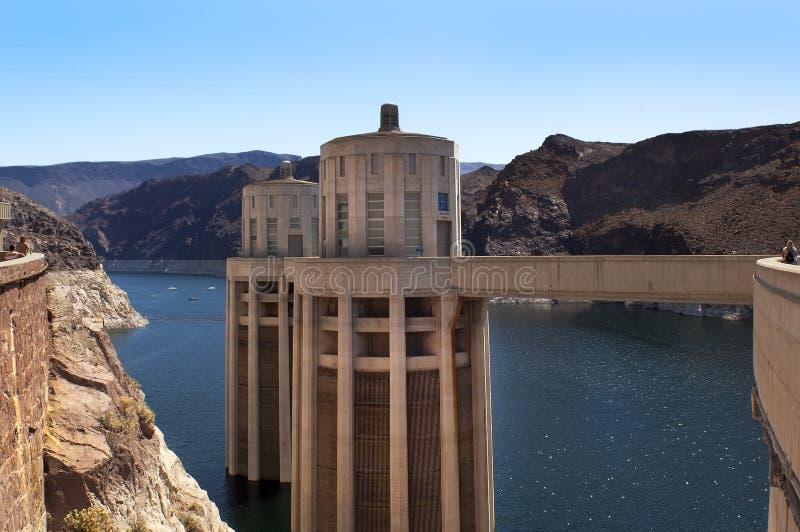 Meer (reservoir), Weide en Dam Hoover royalty-vrije stock afbeeldingen