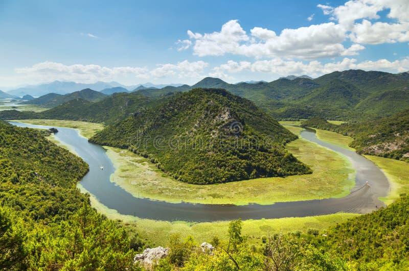 Meer Skadar, Montenegro stock foto's