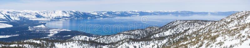 Meer tahoe in de Winter royalty-vrije stock foto's