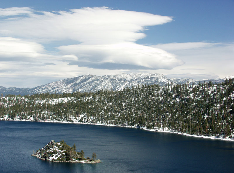 Meer Tahoe. Smaragdgroene Baai stock foto's
