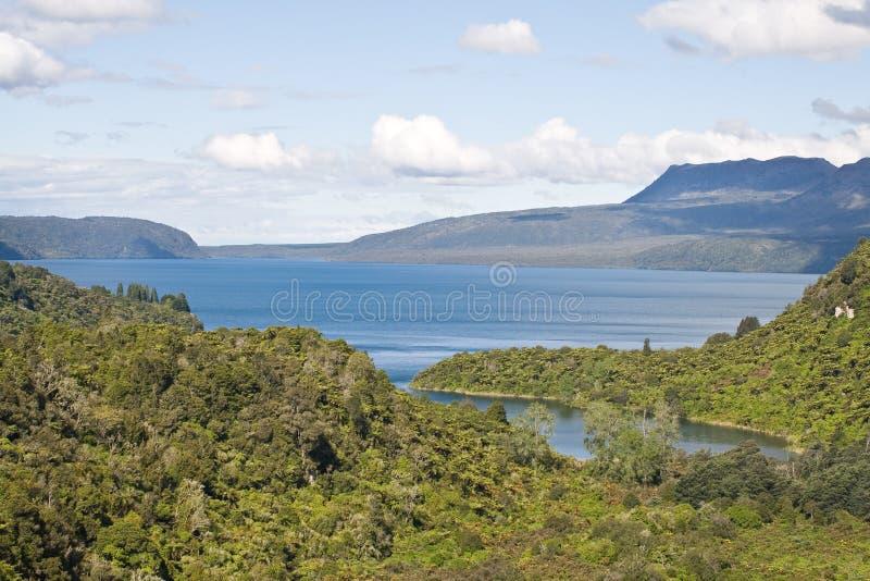 Meer Tarawera stock afbeelding