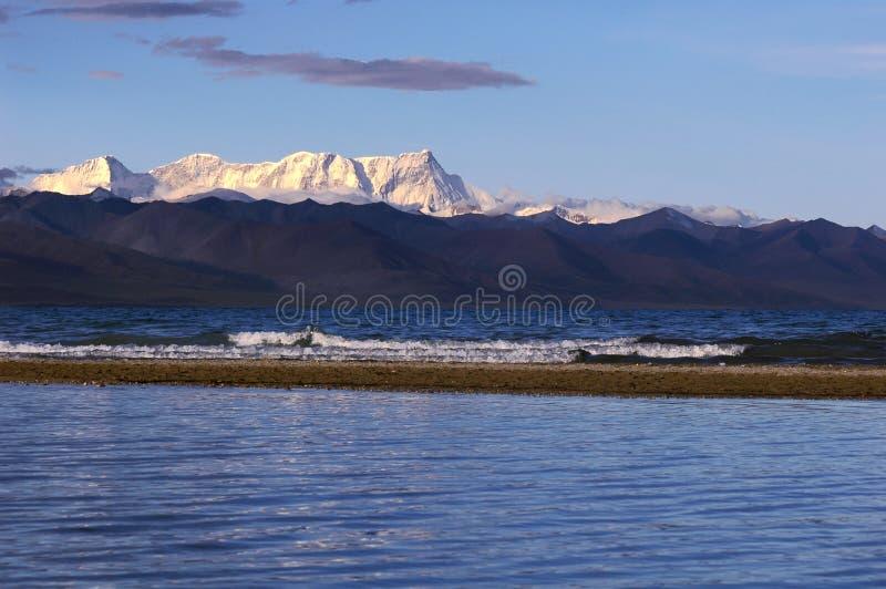 Meer in Tibet stock fotografie