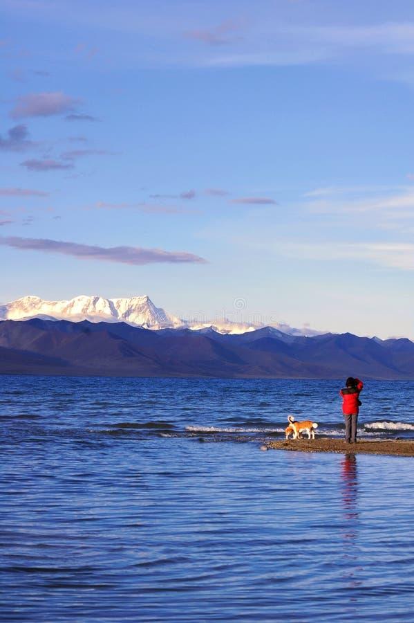 Meer in Tibet stock foto