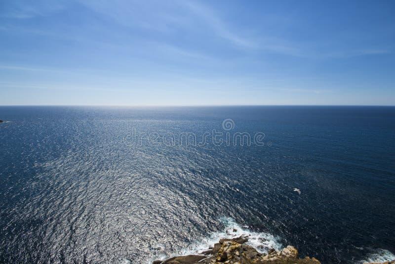 Meer und Himmel der Cies-Inseln lizenzfreies stockfoto