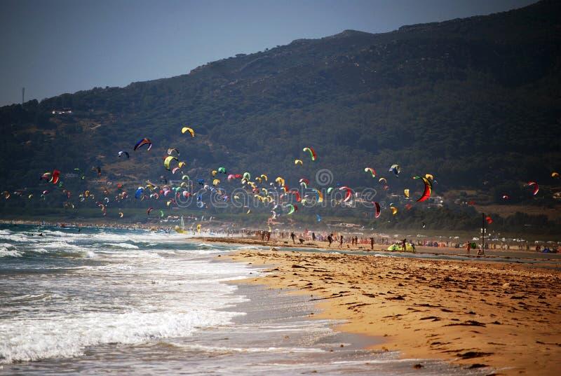 Meer und Himmel in Tarifa, Spanien lizenzfreies stockfoto