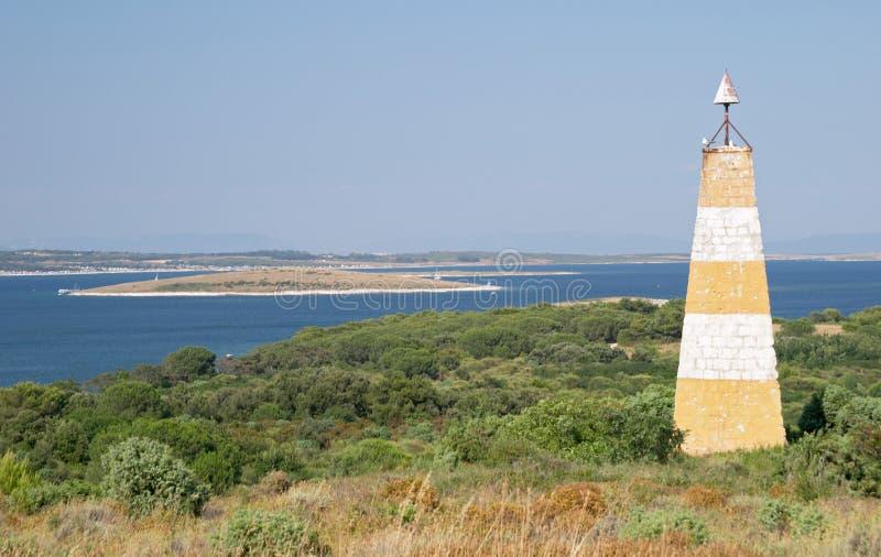 Meer Und Leuchtturm Lizenzfreie Stockfotos