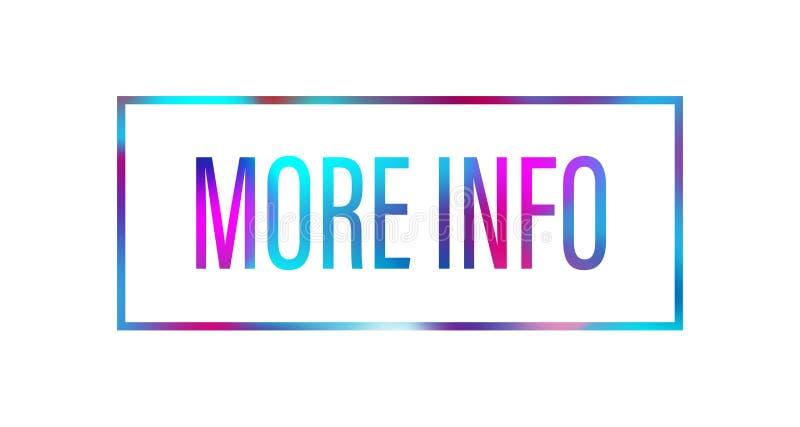 Meer van de regenboogbrieven van het informatieweb de bannerpictogram op witte achtergrond stock illustratie