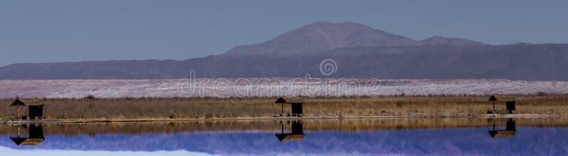 Meer van Zout in Atacama-Woestijn royalty-vrije stock afbeelding
