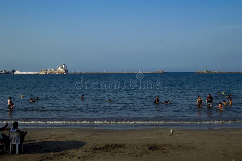 Meer in Veracruz stockfoto
