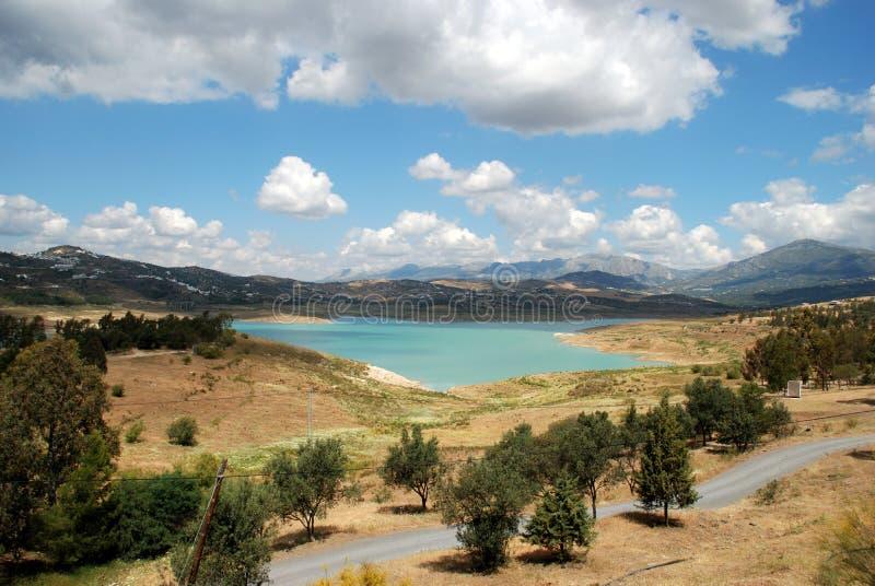 Meer Vinuela, Andalusia, Spanje. royalty-vrije stock afbeelding
