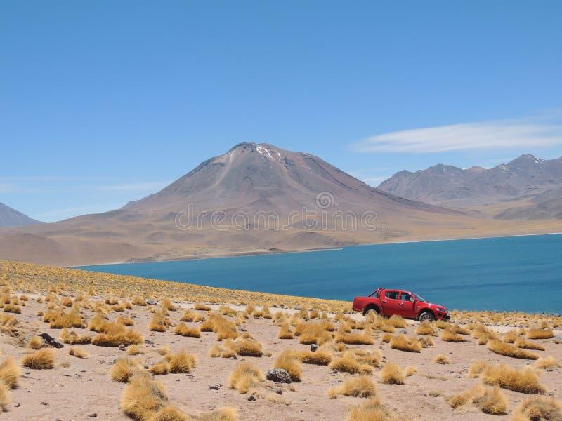 Meer, Volcan & Woestijn royalty-vrije stock afbeelding
