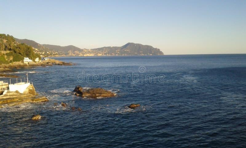 Meer von Genua stockbild