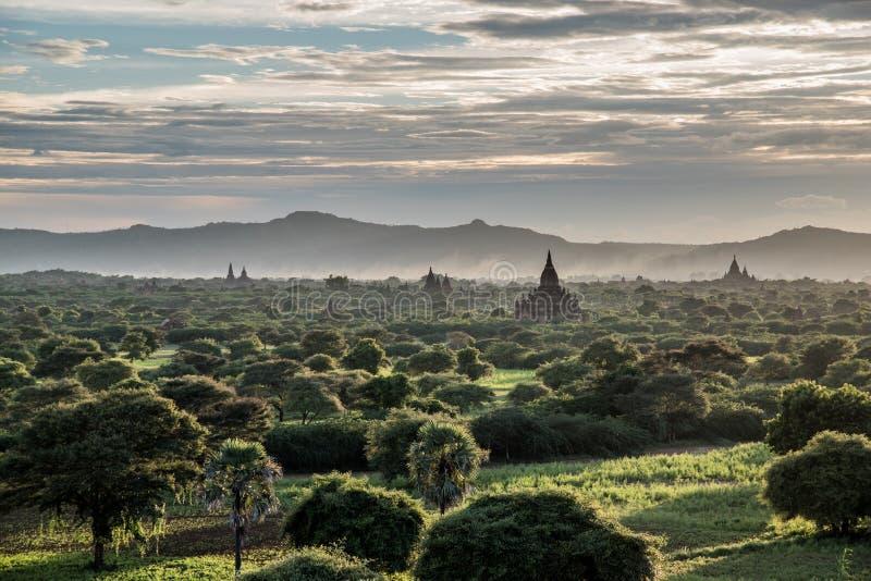 Meer von Pagoden in Bagan, Myanmar stockfoto