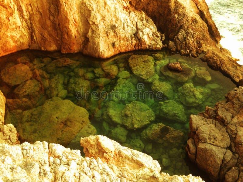Meer wässerte Pool stockbild