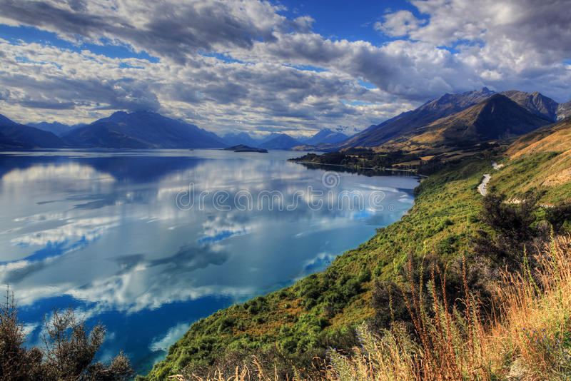 Meer Wakatipu royalty-vrije stock afbeelding