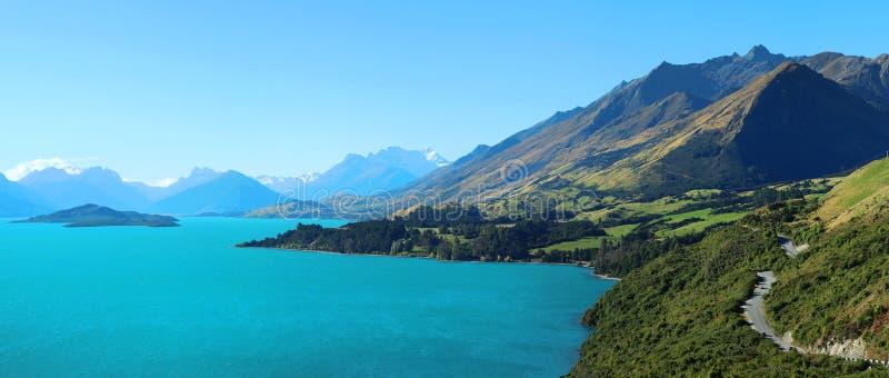 Meer Wakatipu in Nieuw Zeeland stock afbeelding
