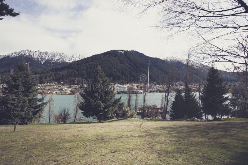 Meer Wakatipu Queenstown Nieuw Zeeland royalty-vrije stock foto