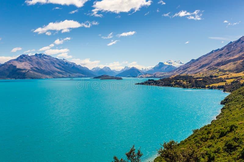 Meer Wakatipyu, Glenorchy, Nieuw Zeeland royalty-vrije stock afbeelding