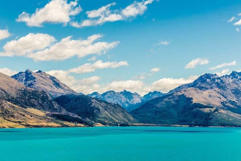 Meer Wakatipyu, Glenorchy, Nieuw Zeeland stock foto