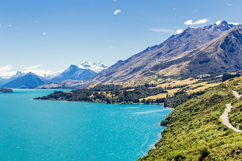 Meer Wakatipyu, Glenorchy, Nieuw Zeeland royalty-vrije stock fotografie
