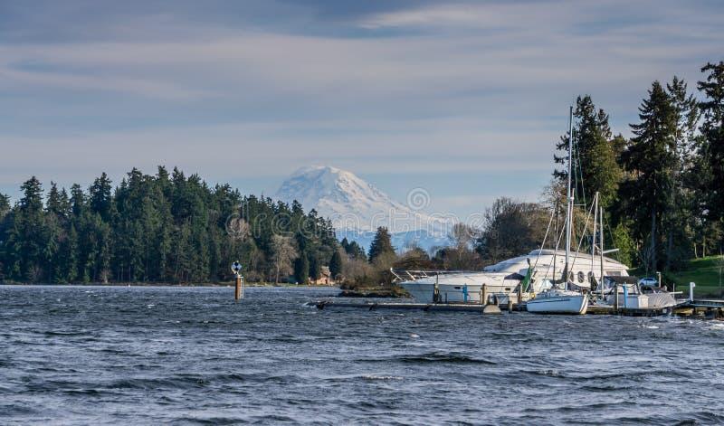 Meer Washington And Boat 4 stock fotografie